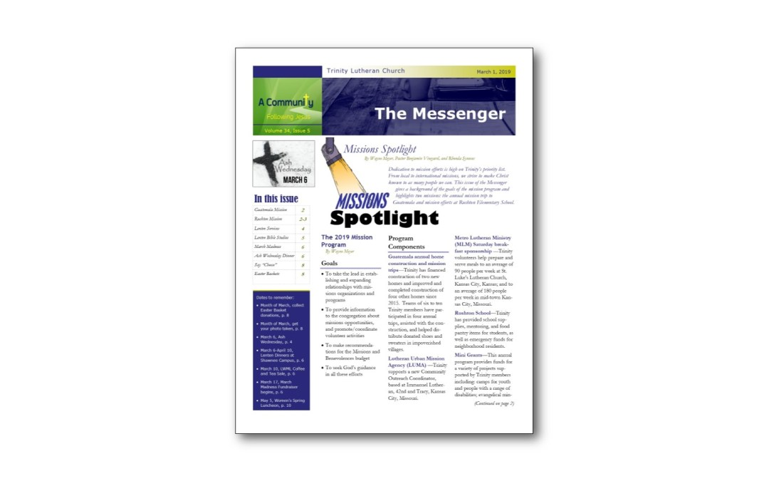 March 1 Trinity Messenger