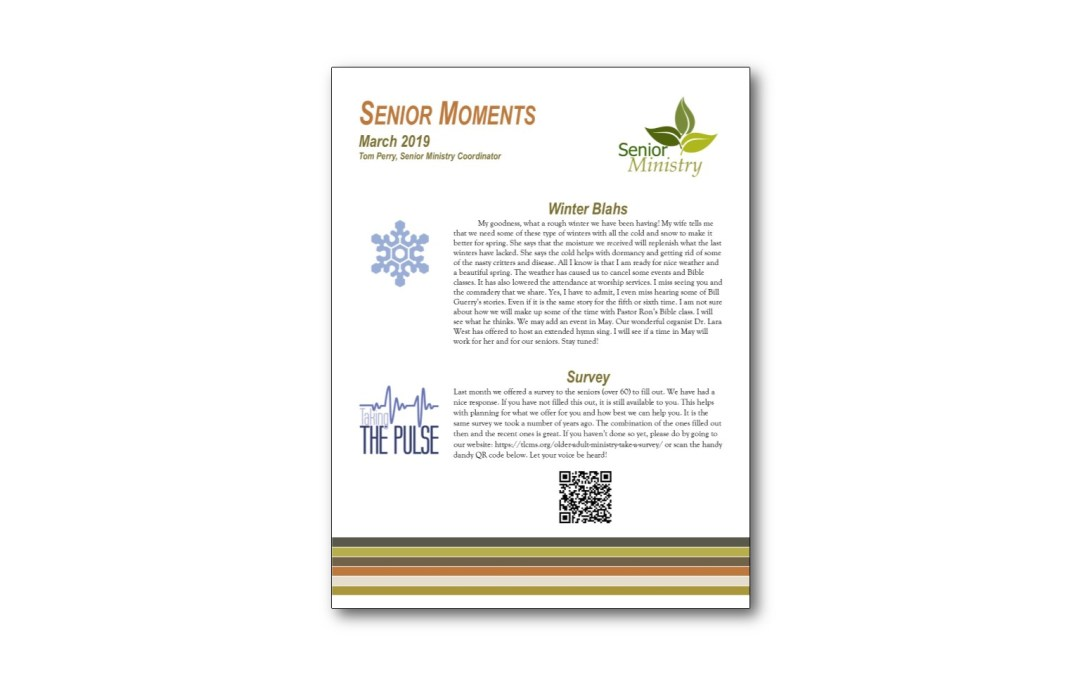 March Senior Moments Newsletter