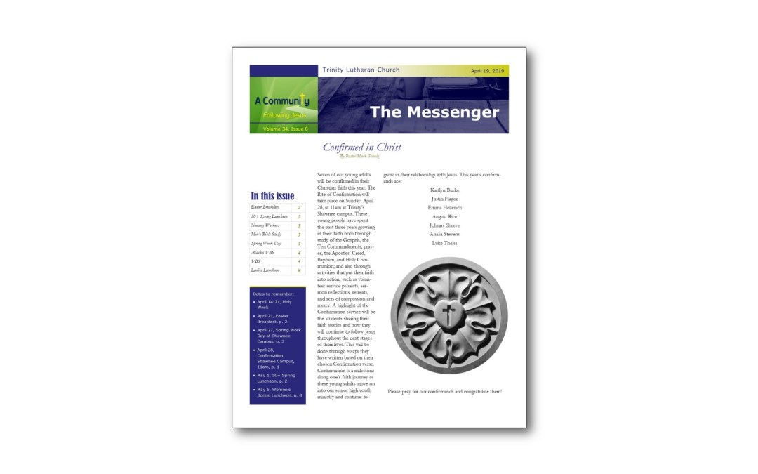 April 19 Trinity Messenger