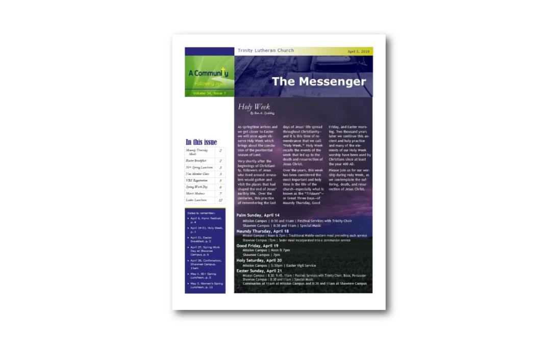 April 5 Trinity Messenger