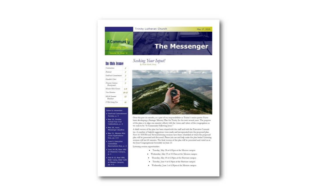 May 17 Trinity Messenger