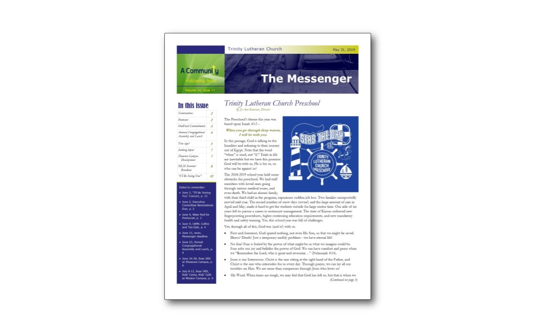 May 31 Trinity Messenger