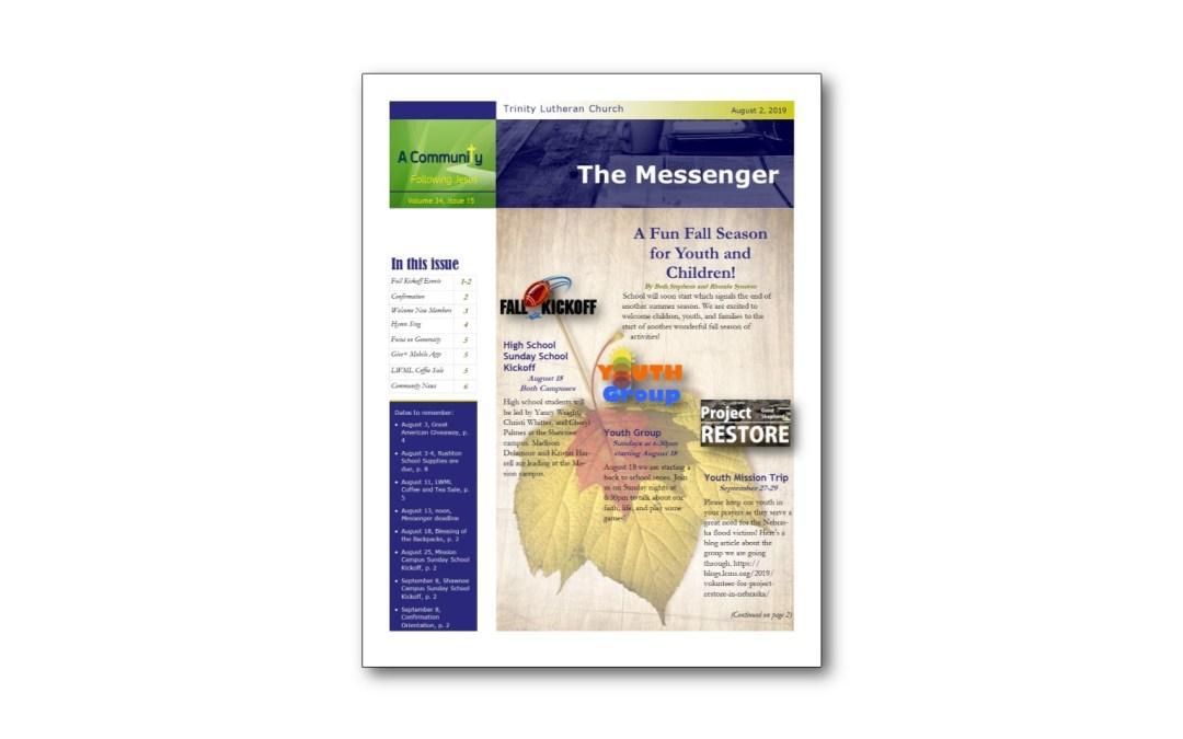 August 2 Trinity Messenger
