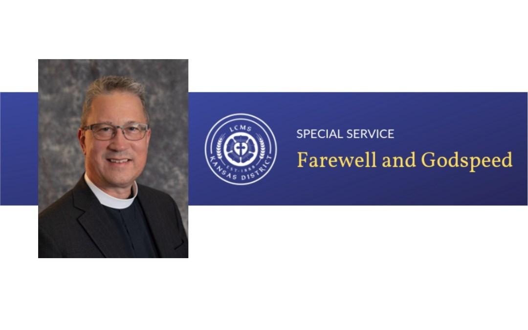 Service of Farewell for KS District President Lange