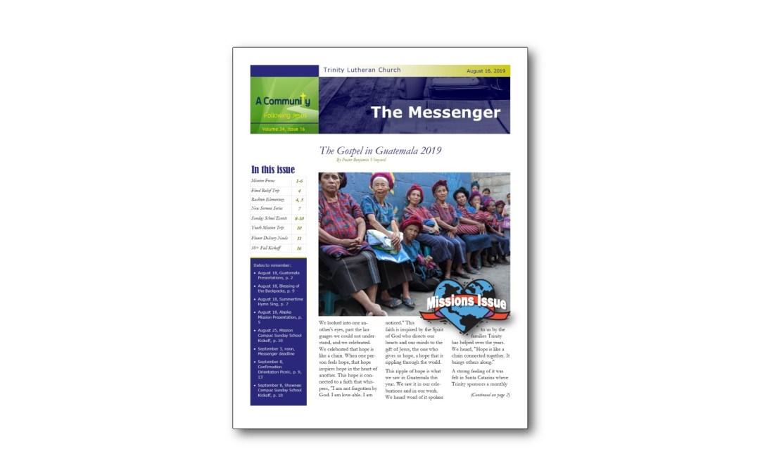 August 16 Trinity Messenger