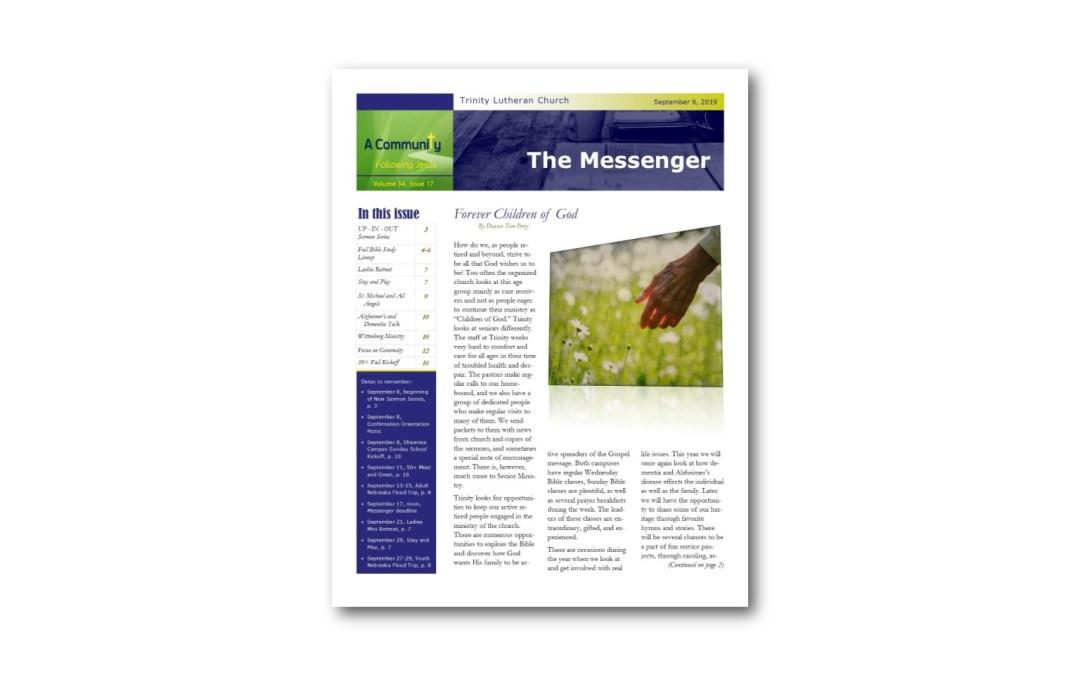 September 6 Trinity Messenger