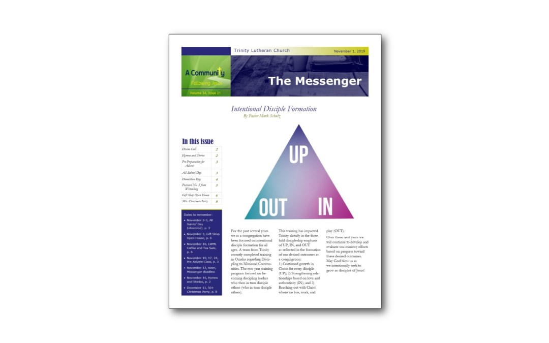 November 1 Trinity Messenger