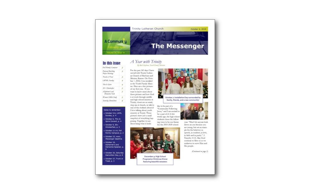 October 4 Trinity Messenger