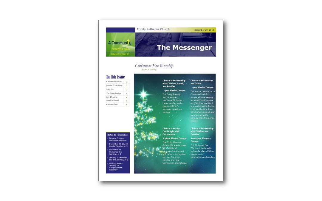 December 20 Trinity Messenger