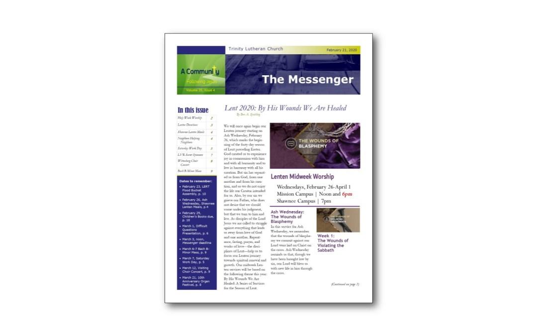 February 21 Trinity Messenger