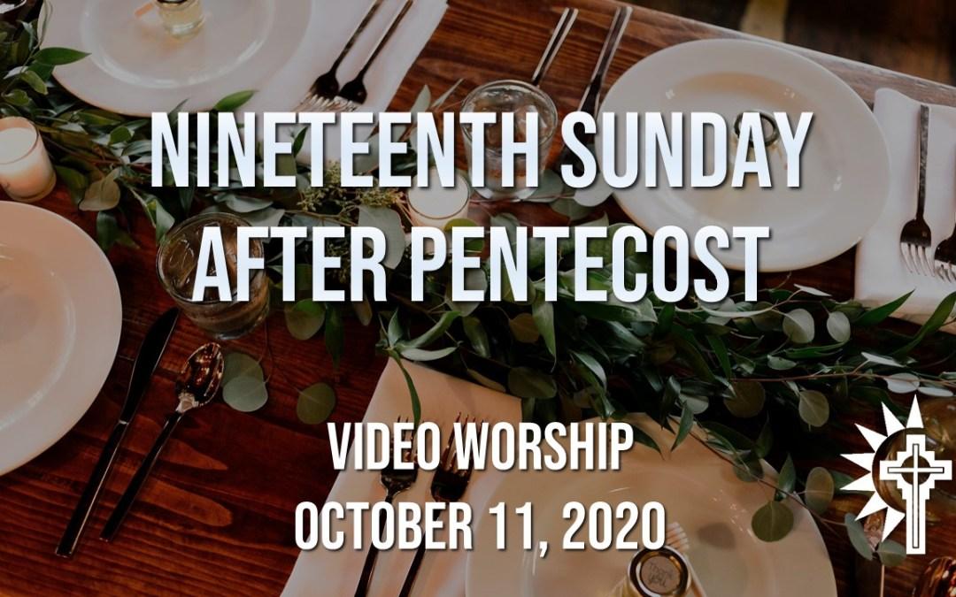 Sunday Worship – October 11