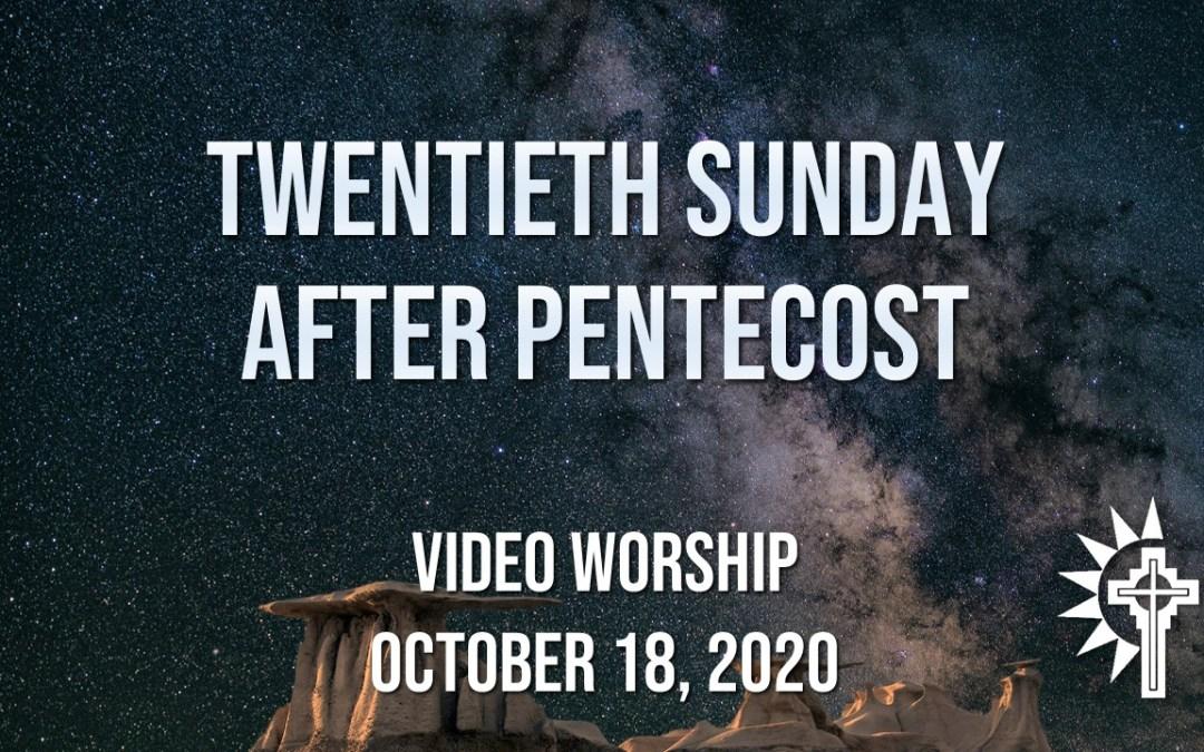 Sunday Worship – October 18