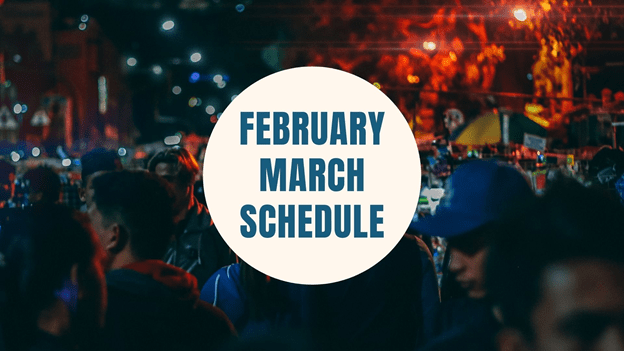 February and March Confirmation Schedule
