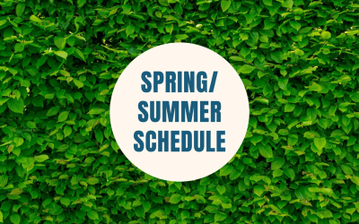Youth Group Spring and Summer Schedule