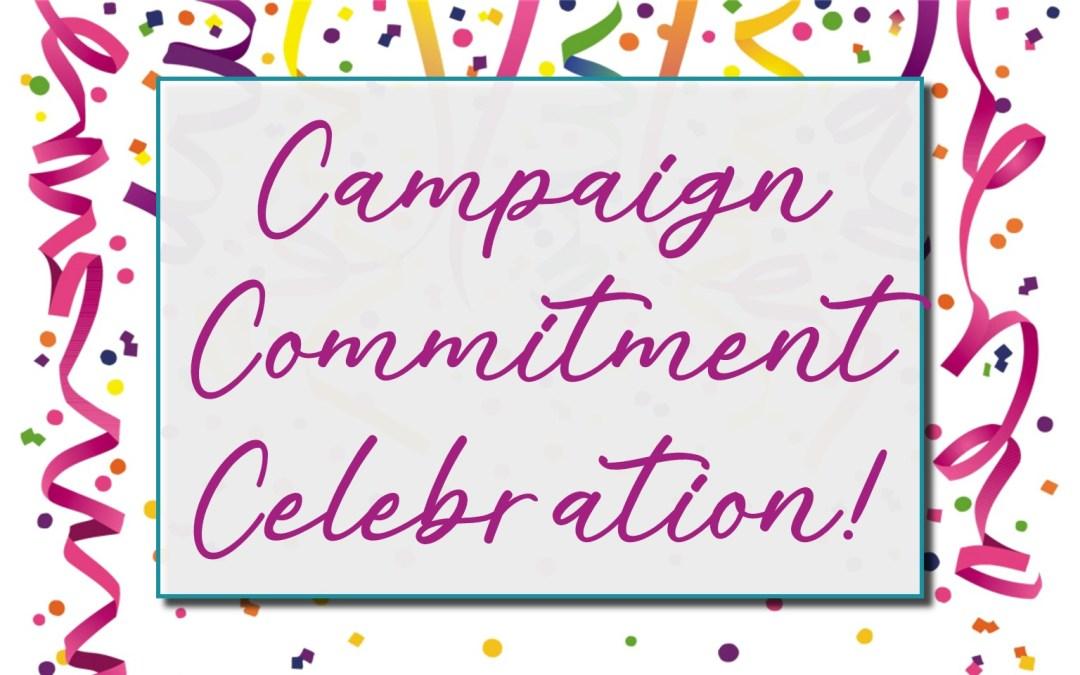 Commitment Sunday Celebration!