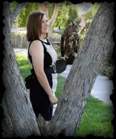 Chelsea holding owl