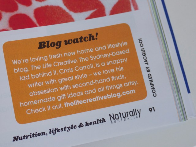The Life Creative in Naturally Australia Magazine