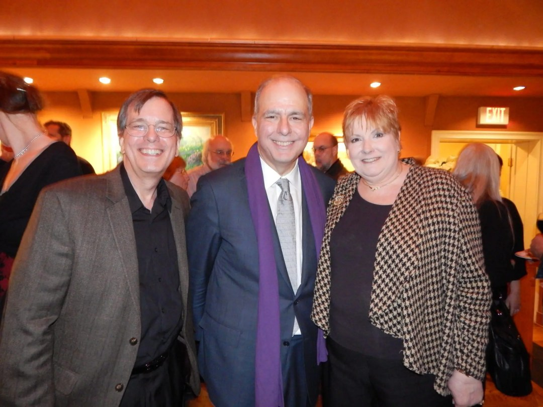 Judith Sapperstein and Gary Murway with jed Bernstein at his Farewell Dinner at The Bucks County Playhouse before he left to become the Executive Director of Lincoln Center.