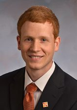 This is a head shot of Clayton Frazier, risk manager.