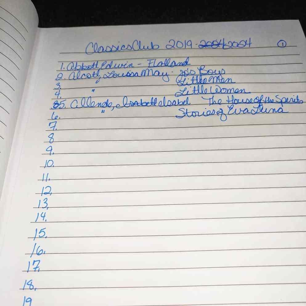 Classics Reading List @ TL Wright | A Bookish Life