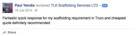 Scaffolding In Cornwall - TLK Scaffolding Services LTD