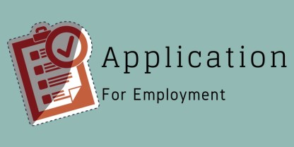 Application for Employment Link