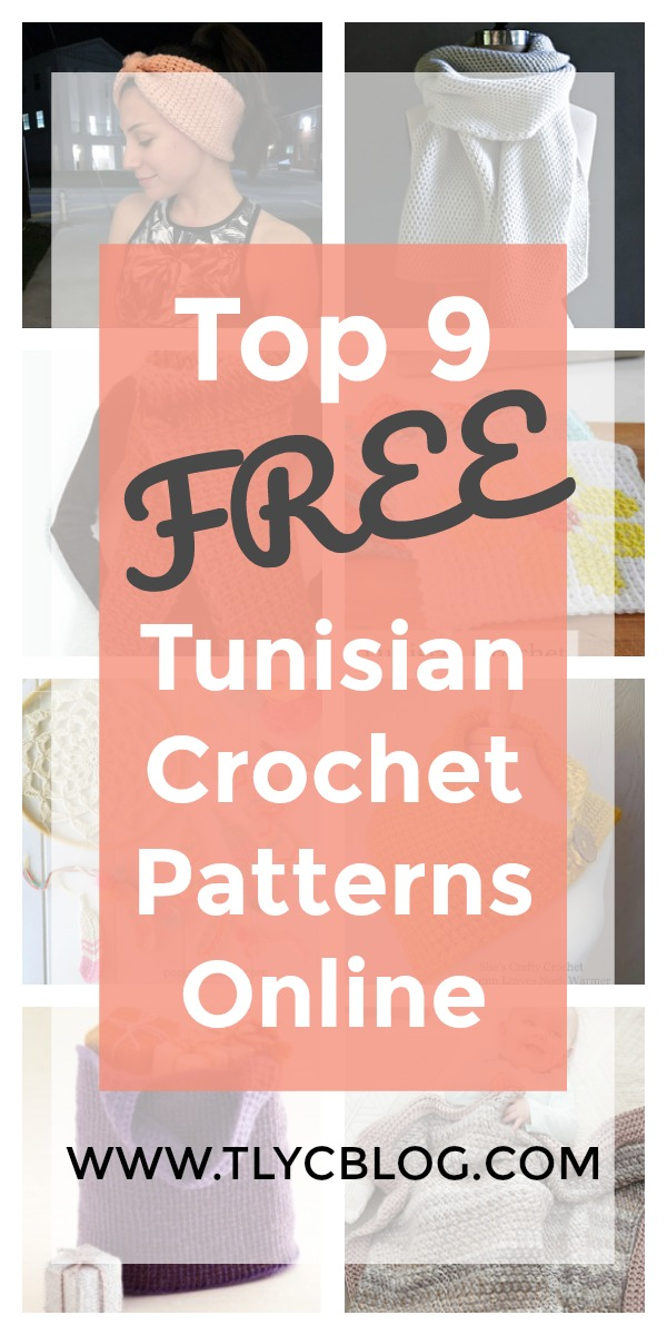 Top 9 Free Tunisian Crochet Patterns Pinterest Ravelry YouTube TL Yarn Crafts