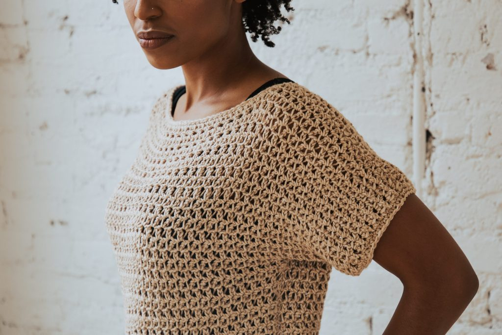 Make the Summertime Tee today, a FREE crochet pattern available from TLYCBlog. Beginner friendly and available in sizes S-2XL, this breezy casual top will be your go-to layering piece well after summer has gone.