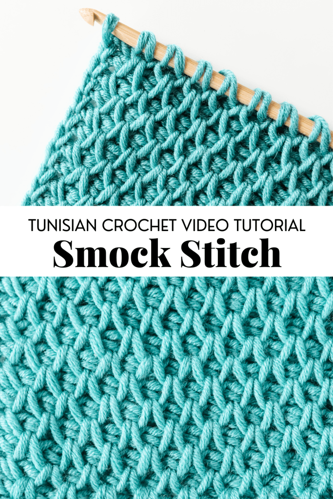 Learn to crochet the Tunisian Smock Stitch, unique and beautiful Tunisian crochet stitch beginner basic crochet stitch with video tutorial and written pattern instructions. | TLYCBlog.com