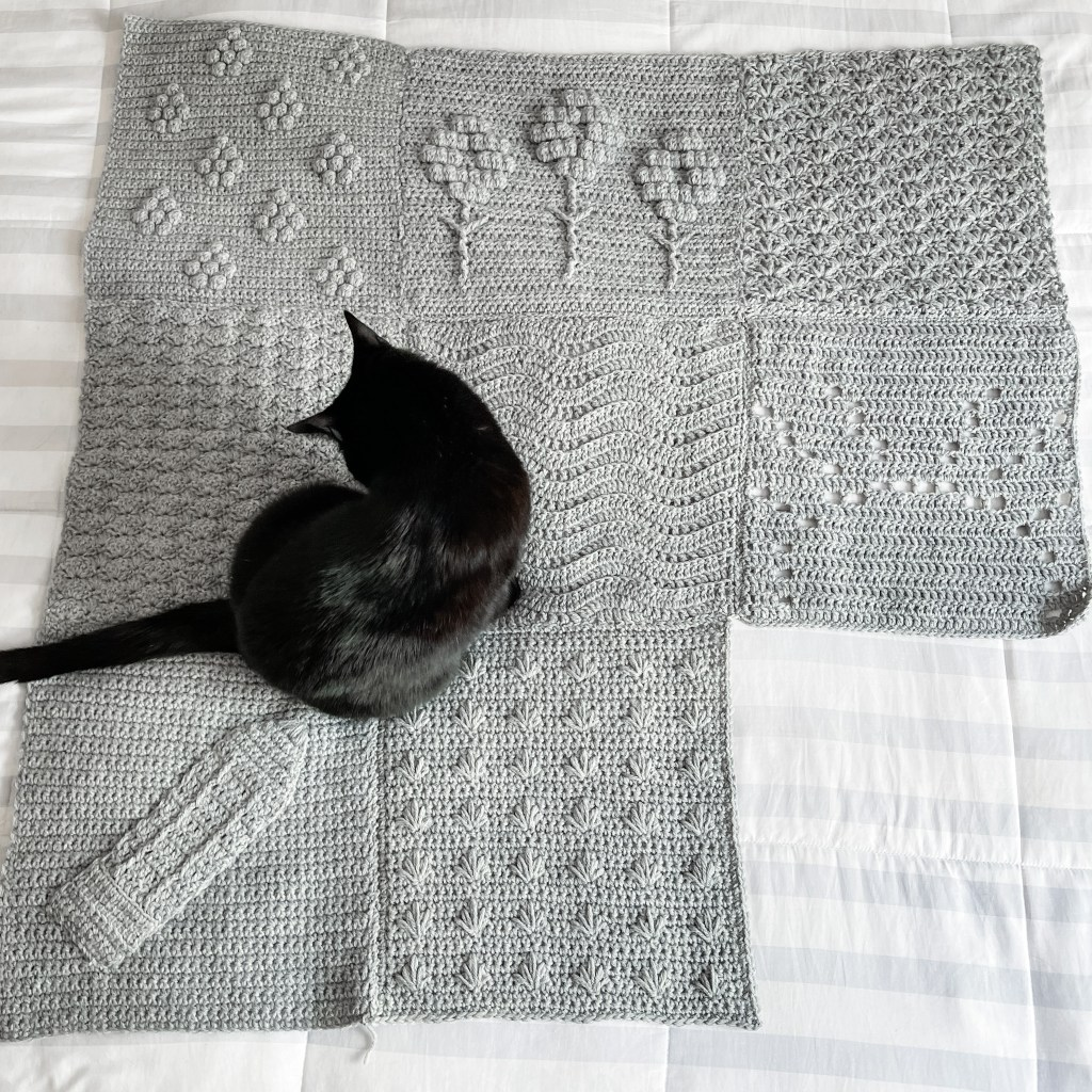 Crochet Traveling Seasons Afghan Square #8 - get that fall feeling with the Leaf Square, which is a play on the crochet spike stitch. | TLYCBlog.com