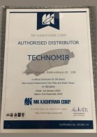 сертификат MK Kashiyama