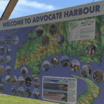 Advocate Harbour Color Shaded Relief Map