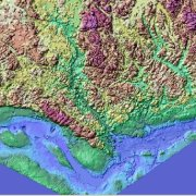 Color Shaded Relief Model of the Gatineau foot hills of Quebec
