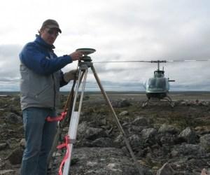 GPS control survey work in Nunavut
