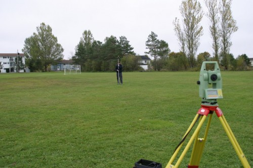 Surveying from an Unknown Point with Leica Total Station