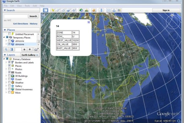 UTM zones in Google Earth