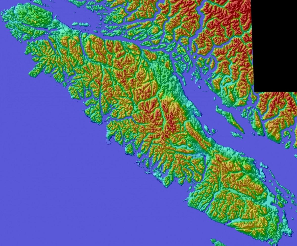 color shaded relief model of vancouver island  u2013 tmackinnon com