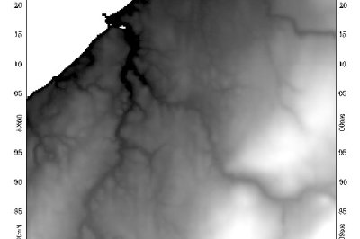 Digital elevation model (DEM) of Lismore, Nova Scotia