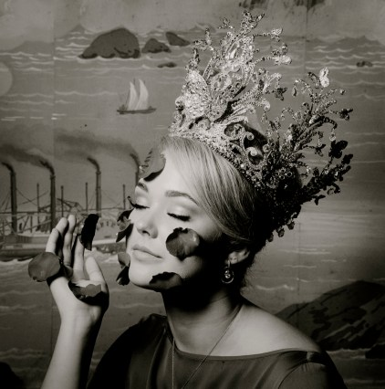 "Robert Langham (b. 1952). ""2016 Rose Queen Mallory Curtis,"" 2016. Silver gelatin print. Courtesy of the artist."