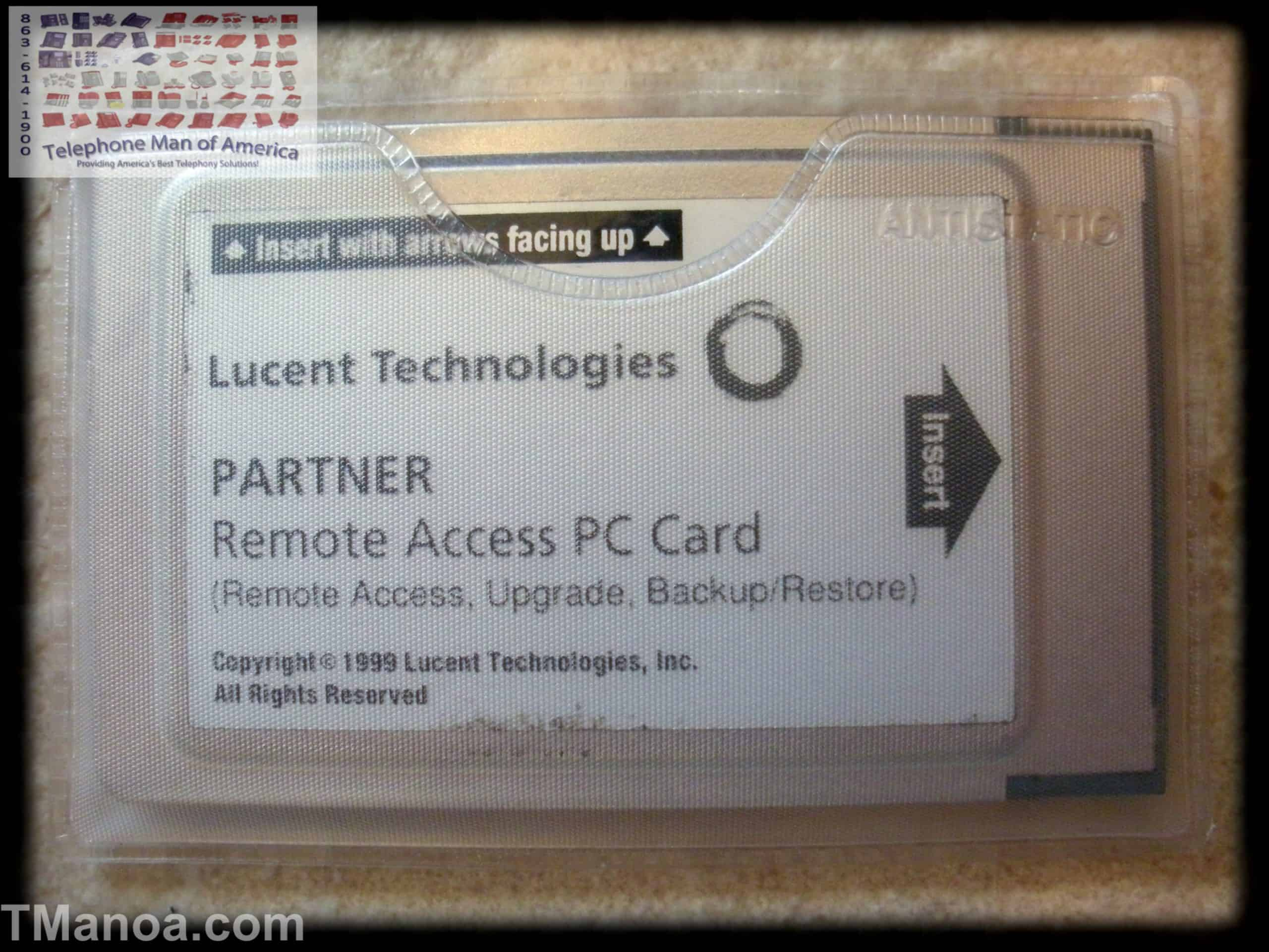 Avaya Partner ACS Remote Access Backup/Restore PC Card