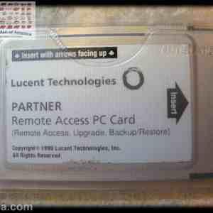 Avaya Partner ACS Remote Access Backup/Restore PC Card