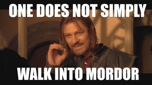 Lord of the Rings Boromir Meme