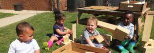 Toddler Outdoor Play, Montessori Private School, Arlington TX