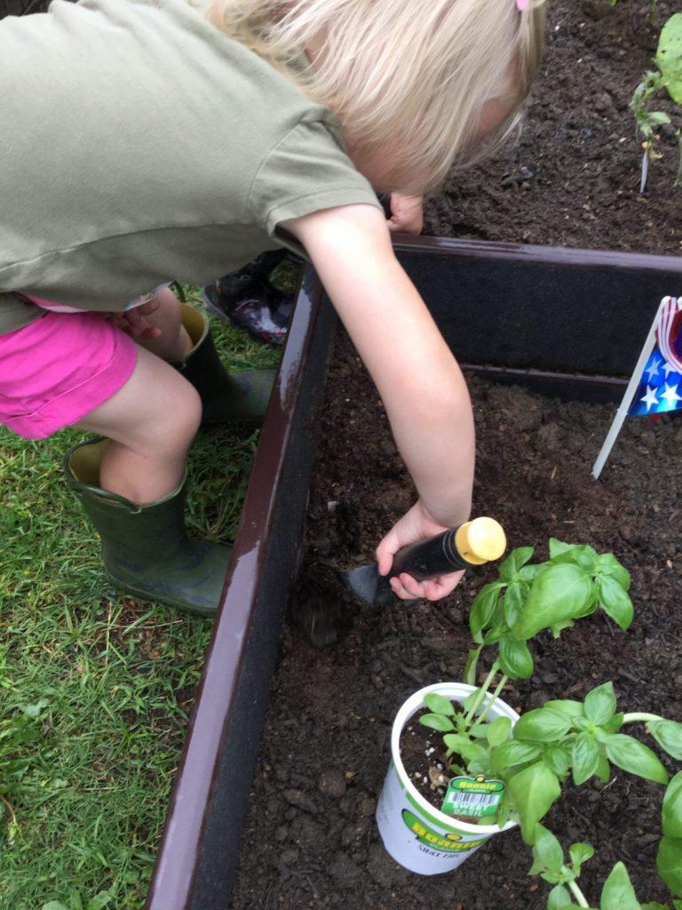 Toddler Outdoor Gardening