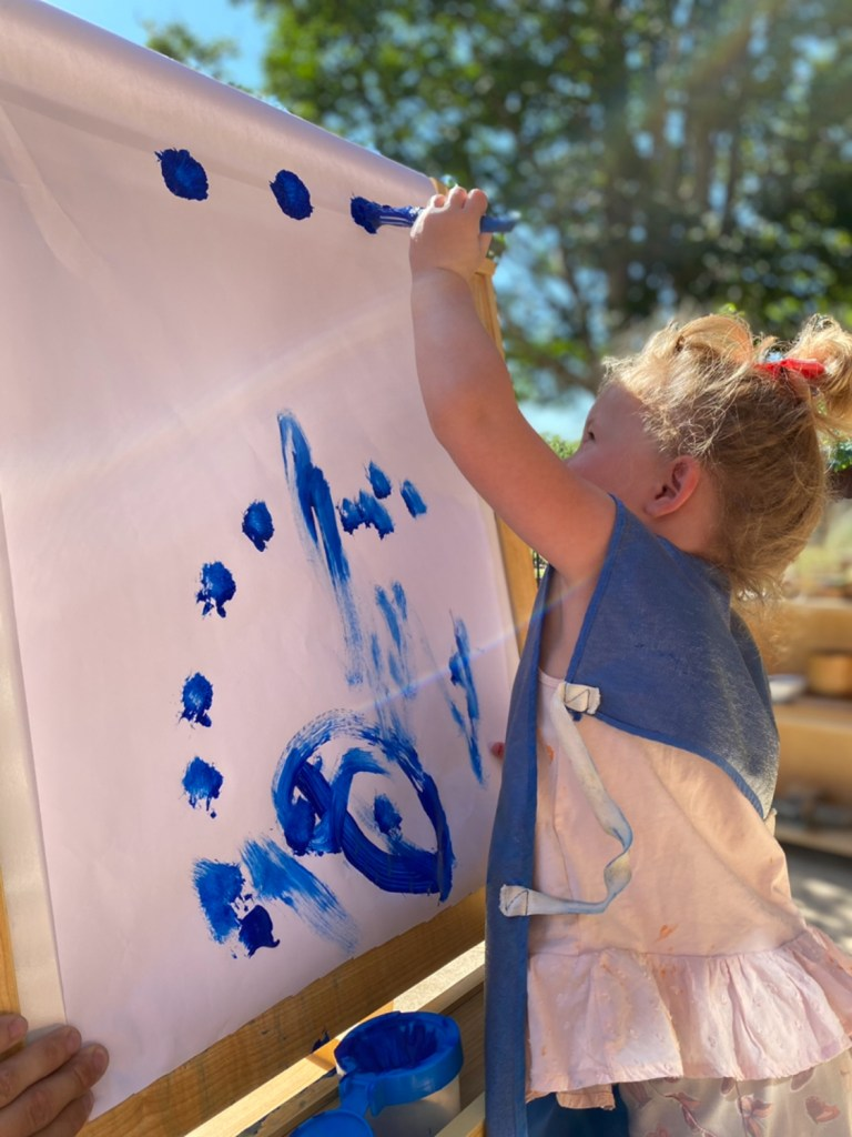 Early Childhood Easel Painting