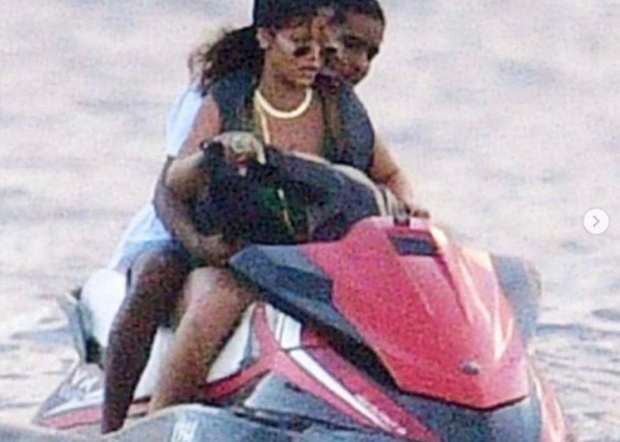It's All Love In The Air As Rihanna & A$AP Rocky Spotted Going On A Jet Ski Ride