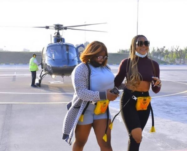 BBN : Dorathy And Lilo Enjoy Helicopter Ride In Dubai