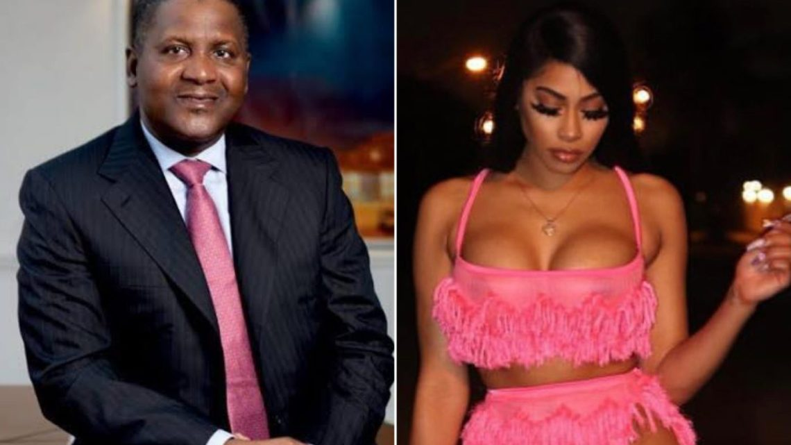 Another Alleged Mistress Of Dangote Comes Forward, Exposes Billionaire's Derrière In Viral Video, Calls Out Alleged Ex-Girlfriend Bea Lewis (photos)
