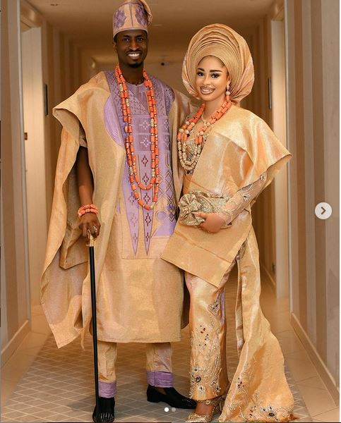 First of all : Actress Yetunde Barnabas And Footballer Peter Olayinka Hold Their Wedding Introduction