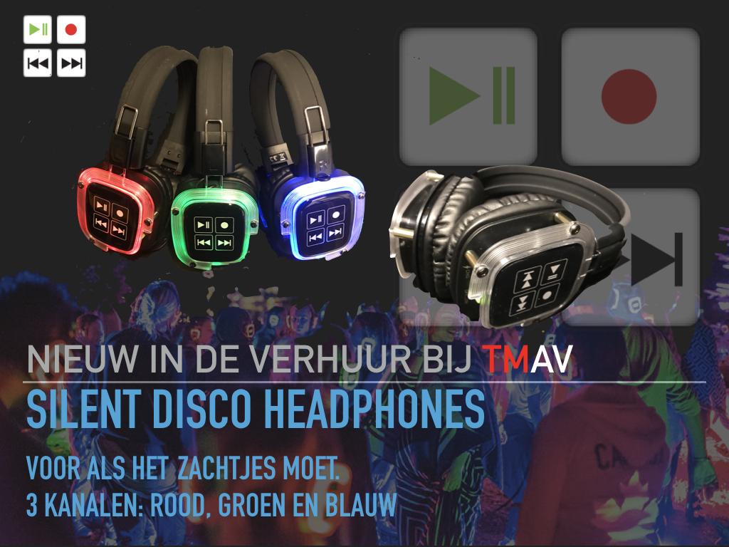 TMAV nieuw in de verhuur Silent Disco